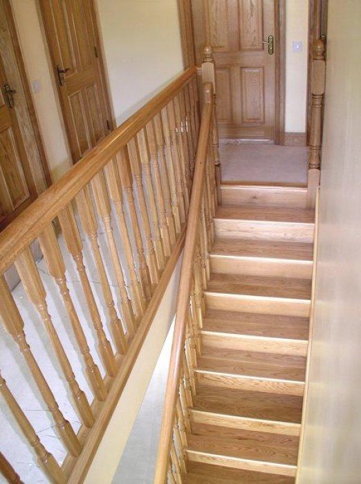 White Oak Cut-String Stairs