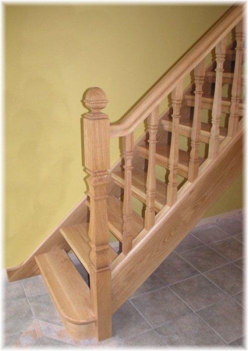 White Oak Open Plan Stairs