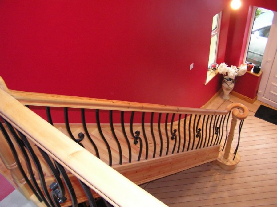 Red Deal with Wrought Iron