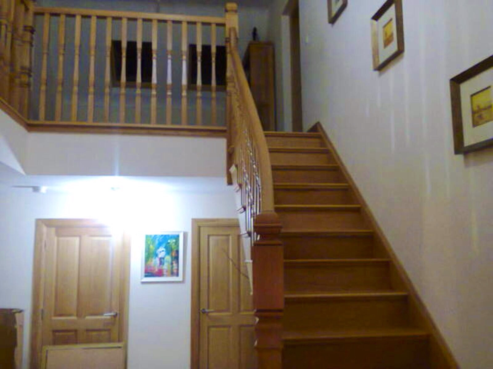 White oak curved stairs
